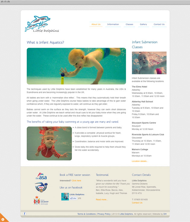 Little Dolphins Website redesign