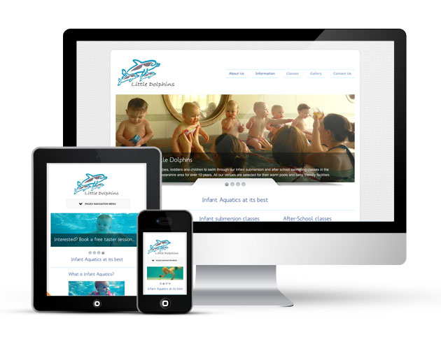 Website redesign for Little Dolphins Worcestershire