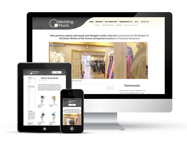 Wedding Pearls - Responsive ecommerce website redesign